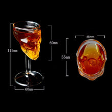Load image into Gallery viewer, Skull Glass Wine Cup