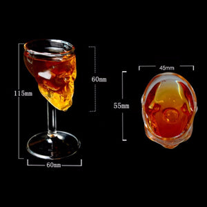 Skull Glass Wine Cup