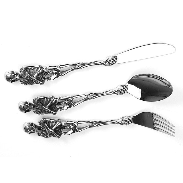 Titanium Skeleton Tableware Set