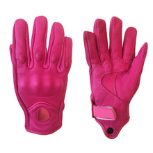 Load image into Gallery viewer, Pink Leather Gloves
