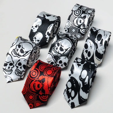Slim Skull Ties  by Run Paula