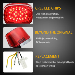 LED Tail Light w/built in turn Signals for Harley Davidson  12V LED