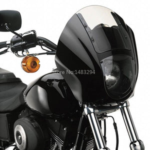Clear Detachable Quarter Fairing windshield Kit  For Harley XL Iron FXR Dyna 1995-2005 Models