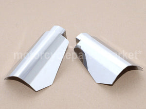 Chrome/Black Stainless Coffin Cut Hand Guards Guard Small/Large For Harley Sportsters Dyna FXR Baggers Models
