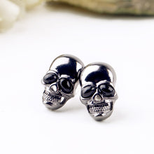 Load image into Gallery viewer, Skull Earrings (Black Eyes)