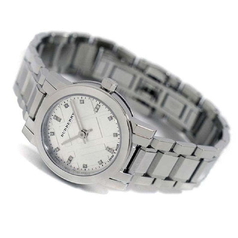 Burberry BU9213 The City Silver Swiss Made Womens Watch