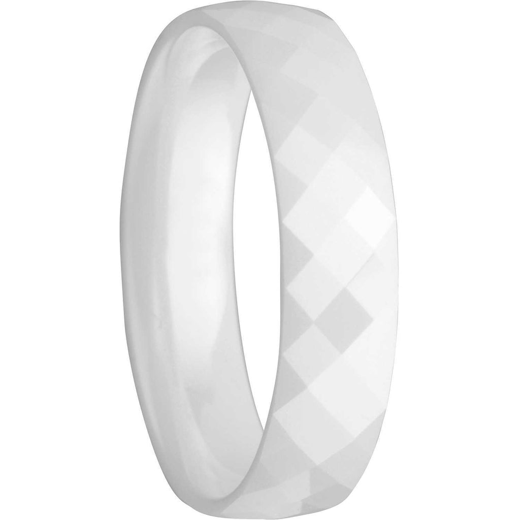 Bering 550-57-72 White Ceramic Artic Symphony Collection Ring Size 8