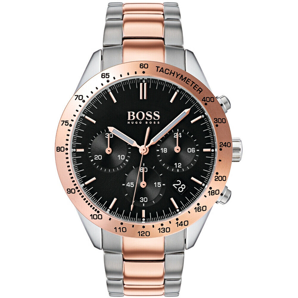 BOSS Hugo Boss 1513584 Talent Silver and Copper Dual Tone Chronograph Mens Watch