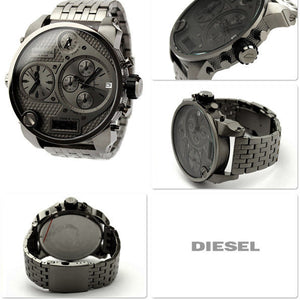 Diesel DZ7247 Mr. Daddy Gunmetal Oversized 56mm Stainless Steel Men's Watch