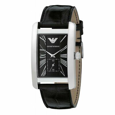 Emporio Armani Men's AR0143 Classic Black Leather Band Watch