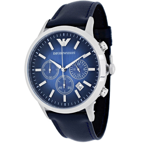 Emporio Armani AR2473 Classic Blue Face Chronograph Mens Watch