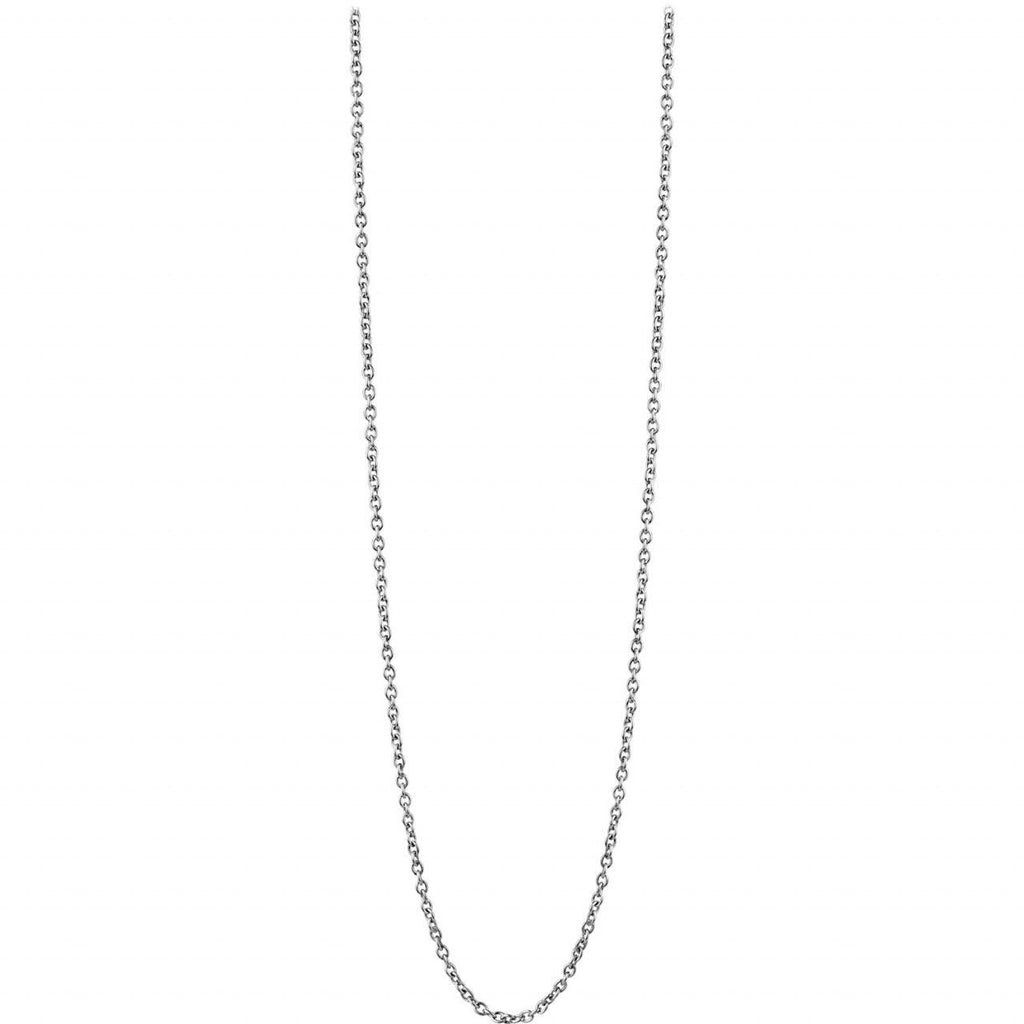 Bering 410-10-456 Silver Tone Arctic Symphony Collection Long Chain Necklace