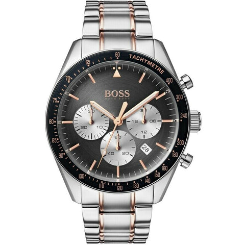 BOSS Hugo Boss 1513634 Trophy Silver Chonograph Mens Watch