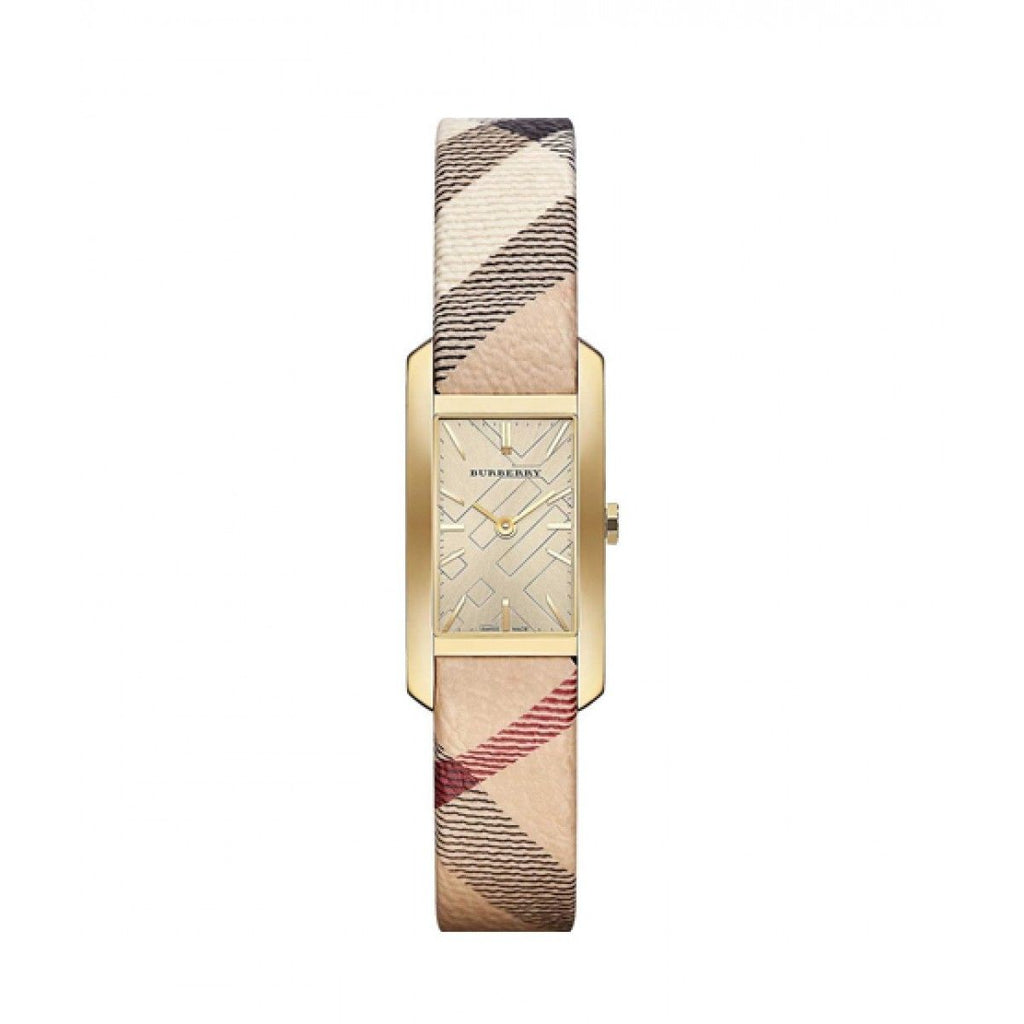Burberry BU9509 Heritage Gold Swiss Made Leather Womens Watch