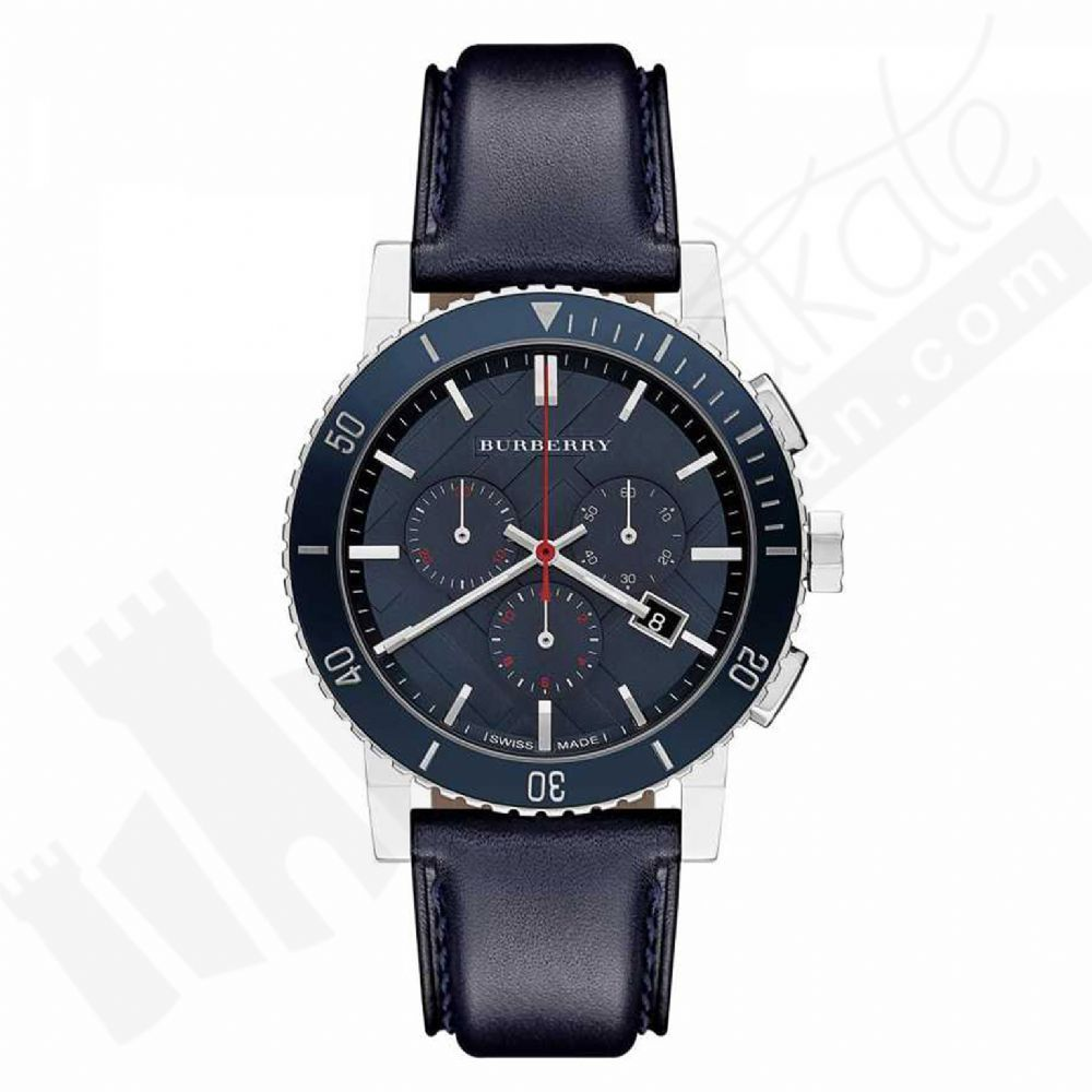 Burberry BU9383 The City Navy Swiss Made Leather Mens Watch