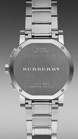 Burberry BU9380 Sport Black Ceramic Dial Swiss Made Chronograph Mens Watch