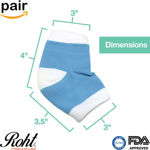 Roht Moisturizing Spa Gel Heel Socks to Heal Dry Heels - 1 Pair