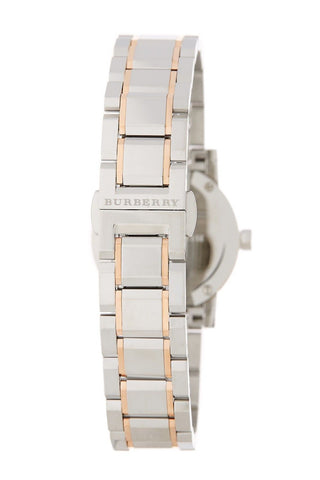 Burberry BU9205 Check Rose Gold Accents Swiss Made Womens Watch