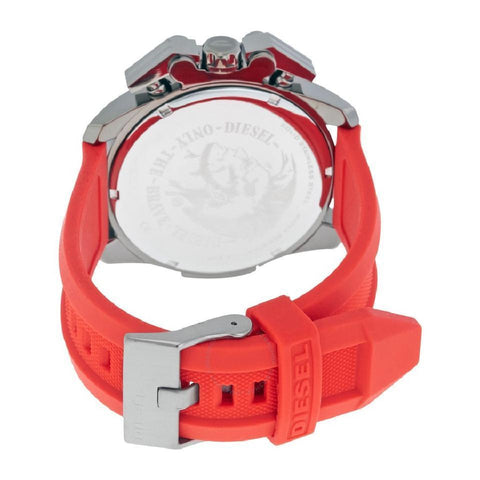 Diesel DZ4388 Ironside Red and Black Silicone Sport Mens Watch