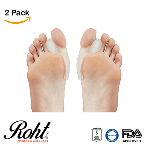 Roht Bunion Pads with Toe Separator for Bunion Relief and Treatment - 2 Pairs