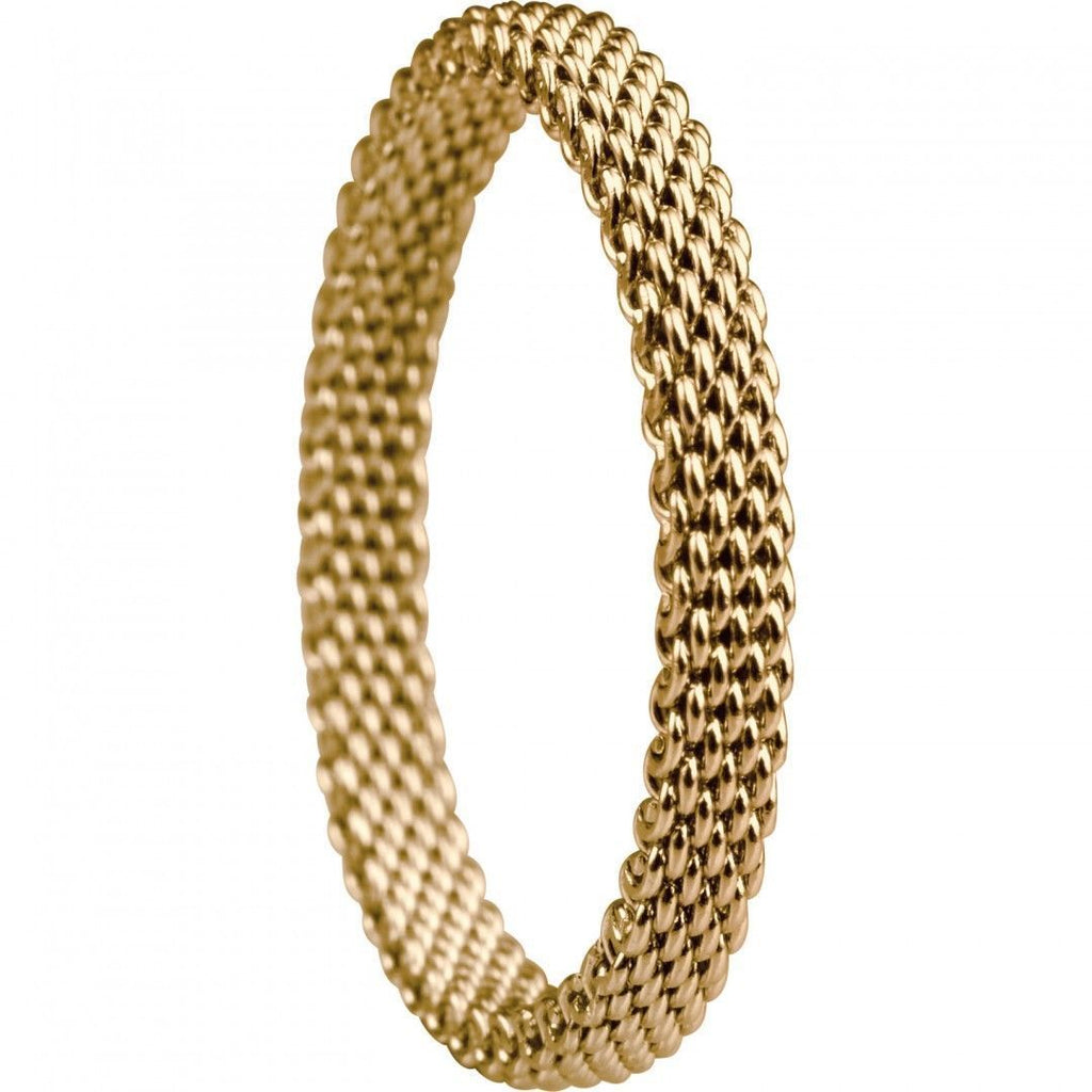 Bering 551-20-x1 Gold Tone Mesh Arctic Symphony Collection Inside Ring Size 9