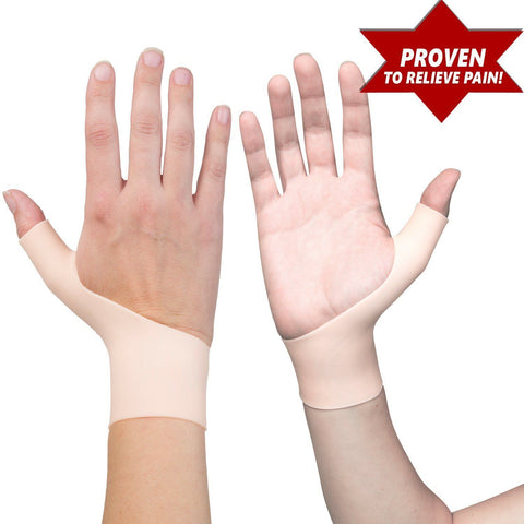 2 Premium Gel Wrist Support Braces for both Hands Proven to Relieve Wrist pain