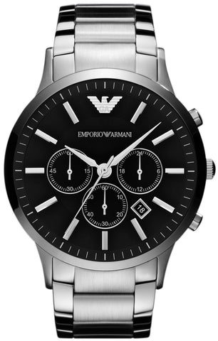 Emporio Armani AR2460 Black Face Classic Chronograph Mens Watch