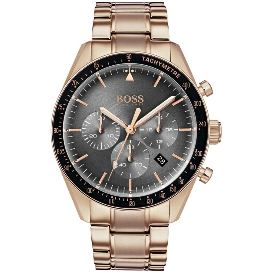 BOSS Hugo Boss 1513632 Trophy Copper and Black Chonograph Mens Watch