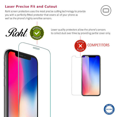 Roht Glass Screen Protector for iPhone XR (2 Pack)