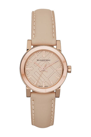 Burberry BU9210 The City Rose Gold Swiss Made Leather Womens Watch