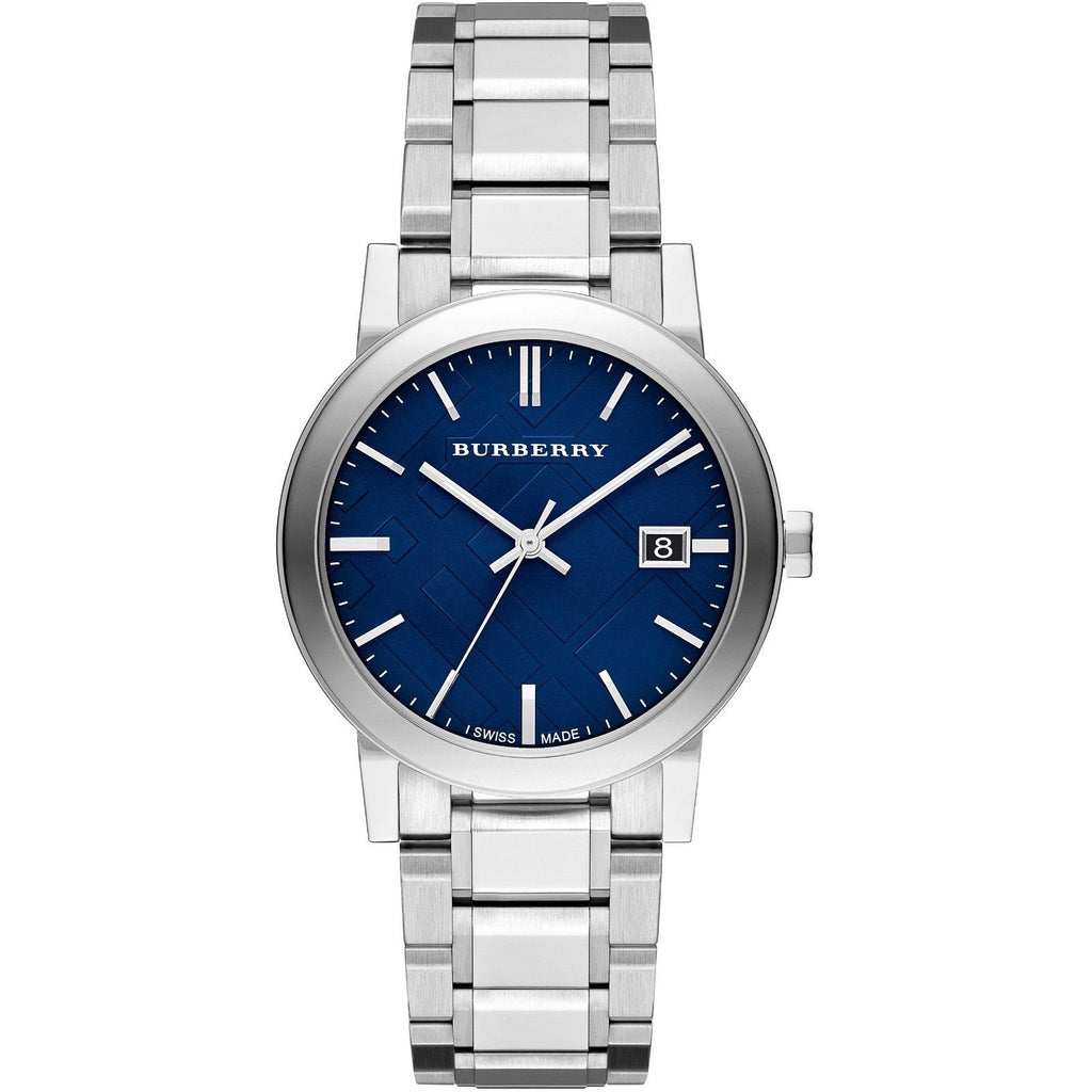 Burberry BU9031 The City Blue Dial Swiss Made Mens Watch