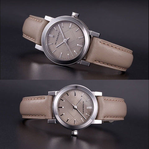 Burberry BU9207 The City Beige Swiss Made Leather Womens Watch