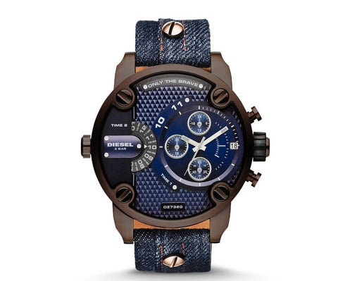 Diesel DZ7320 Brown plating and dark blue denim Men's watch