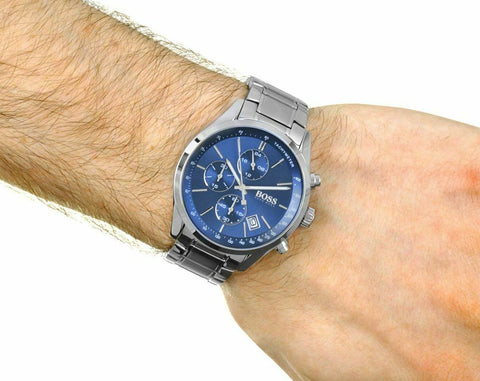 BOSS Hugo Boss 1513478 Grand Prix Blue Face Chronograph Men's Watch
