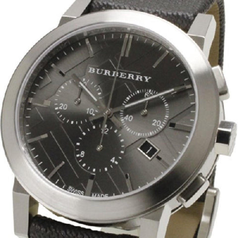 Burberry BU9359 Heritage Black Leather Swiss Made Mens Watch