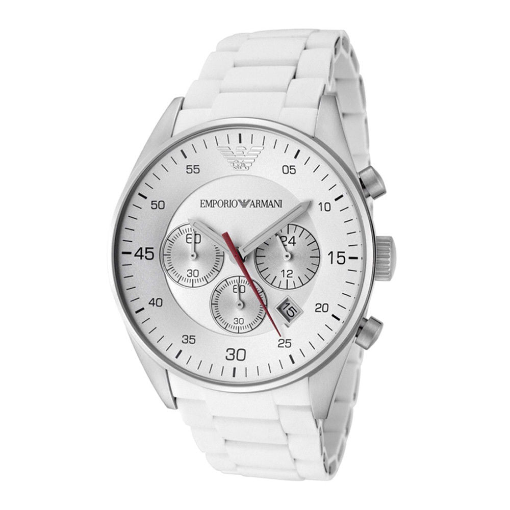 Emporio Armani AR5859 Sport White Chronograph Mens Watch
