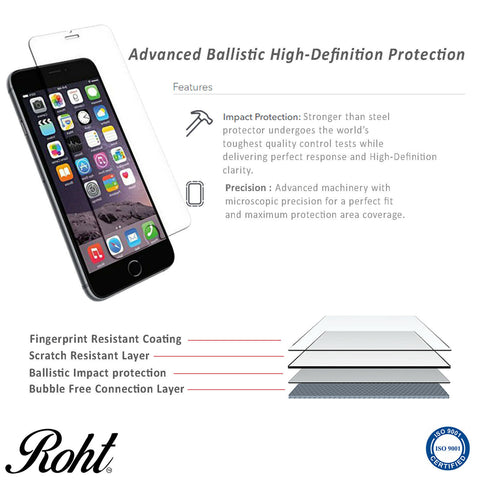 Roht Glass Screen Protector for iPhone 6 Plus / 7 Plus / 8 Plus (2 Pack)