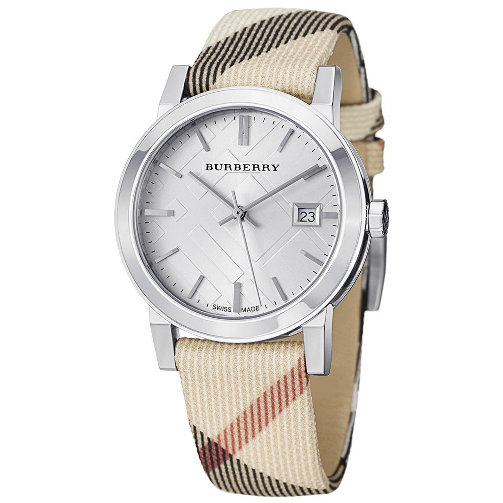 Burberry BU9113 Check Nova Swiss Made Leather Womens Watch