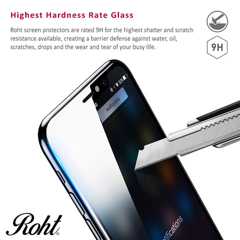 Roht Glass Screen Protector for iPhone 6, 6s, 7 and 8 (2 Pack)