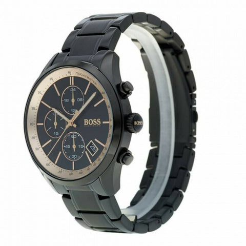 BOSS Hugo Boss 1513578 Grand Prix Black and Copper Chronograph Mens Watch