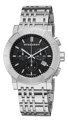 Burberry BU2304 Large Check Swiss Made Mens Watch