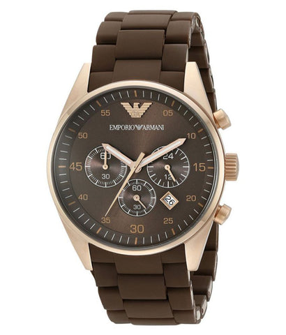 Emporio Armani Chronograph AR5890 Sportivo Brown Wrist Watch for Men