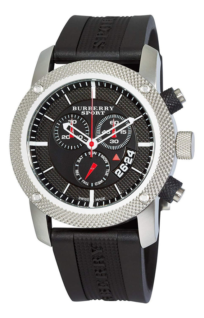 Burberry BU7700 Sport Black Swiss Made Rubber Mens Watch