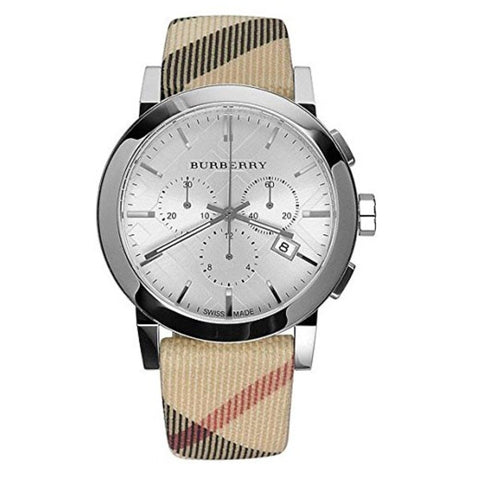 Burberry BU9357 The City Leather Swiss Made Mens Watch