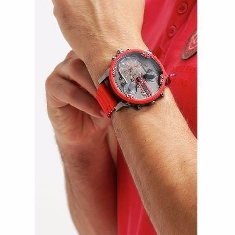 Diesel DZ7370 Mr. Daddy 2.0 Red Two Hand Stainless Steel Watch