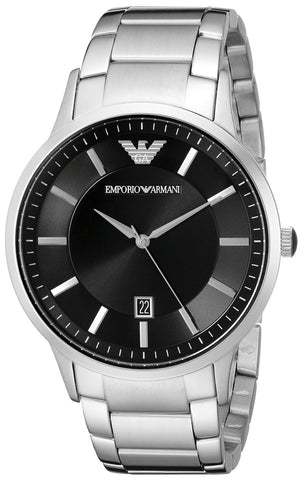 Emporio Armani AR2457 Clasico Slim Black Dial Mens Watch