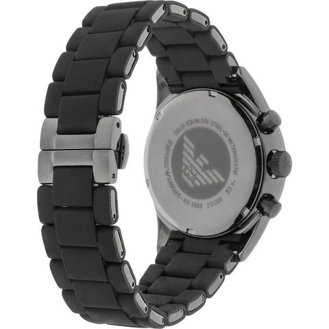 Emporio Armani Sportivo AR5889 Black Silicone Wrist Watch for Men