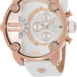 Diesel Little Daddy DZ7271 Rose Gold Tone and white Band Men's Watch