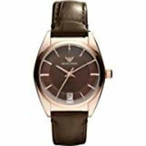 Armani Women's AR0378 Classic Brown Leather Strap Watch