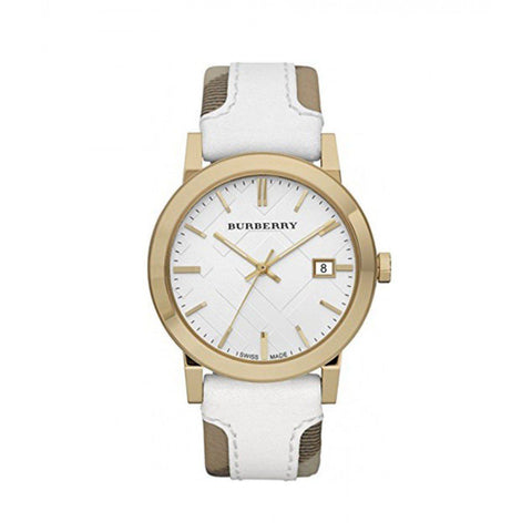Burberry BU9015 Heymarket Gold Swiss Made Womens Watch